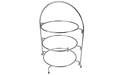 503019 Chrome Wire Three Tier Cake Stand 295X295