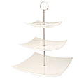 Square China Three Tier Cake Stand