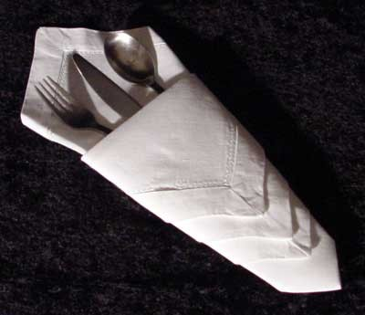 Five Creative Napkin Folding Ideas 4