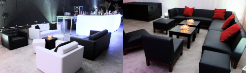 Lounge furniture and LED Bars