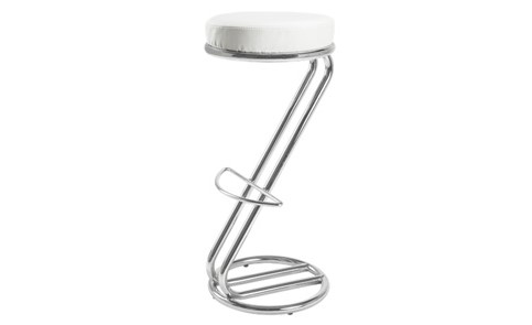 Peachy Z Bar Stool Chrome And White Lounge Concept Allens Hire Camellatalisay Diy Chair Ideas Camellatalisaycom