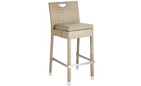 Brilliant Rattan Wicker Bar Stool Garden Furniture Allens Hire Machost Co Dining Chair Design Ideas Machostcouk